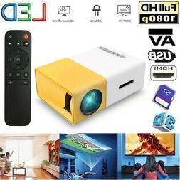 Mini Pocket 1080P HD LED LCD Projector HomeTheater Cinema AV