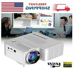 Mini Pocket LED Portable Projector 1080P Home Theater USB Ci