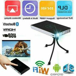 Mini Portable 3000 lumens DLP Android Wifi HD 1080P Video Ho