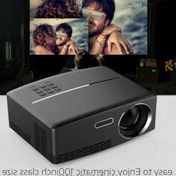 Mini Portable 3000Lumens 4K 1080P 3D HD Projector  LED Home