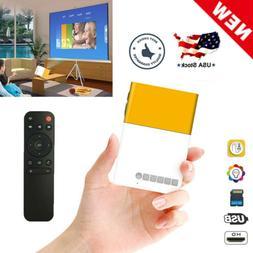 Mini Portable LCD Multimedia LED Projector Full HD 1080P USB