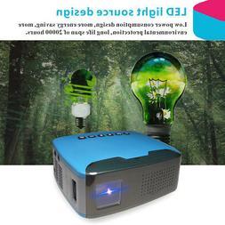 Mini Portable LCD Projector Video Multimedia Full HD 1080P 1