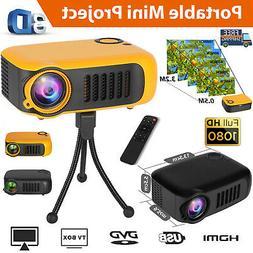 Mini Portable LED Full HD 1080p Projector Home Theater Cinem