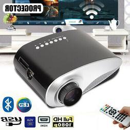 Mini Portable Multimedia LED Projector 7000 Lumens 3D Full H