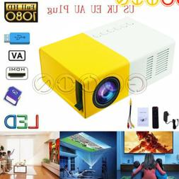 Mini Portable YG300 Multimedia LCD Projector Full HD 1080P H