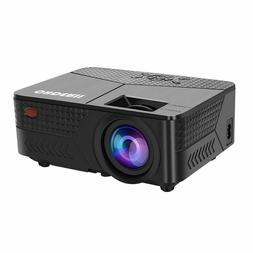 OHDERII Mini Projector,1080p 120 Inch Display Supported,Comp