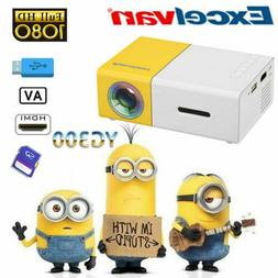 Mini Projector 1080P LED LCD Portable Home Theater Entertain