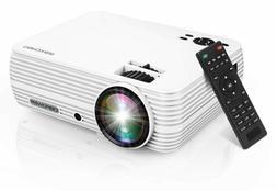 """DBPOWER Mini Projector, 176"""" Display 1080P Full HD Movie Pro"""