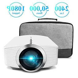 Mini Projector, ELEPHAS 2400 Lux Home Theater Video Projecto