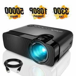 Mini Projector, ELEPHAS 3300 Lux Portable Home Theater Proje
