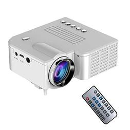 Teepao Mini LED Projector, 2018 Upgraded Deeplee Portable Mu