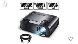 ELEPHAS Mini Projector 50000 Hours Full HD 1080P Support 400