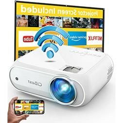 Mini Projector, CiBest 7000L Movie Projector with Wireless D
