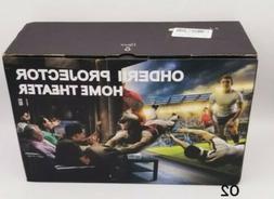 OHDERII Mini Projector,720p Maximum display is 200 inches Su