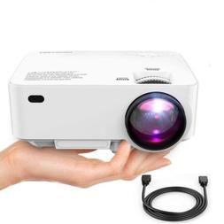"Mini Projector, 50% Brighter LED Movie Projector with 176"" D"