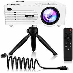 QKK  Mini Projector -Full HD LED Projector 1080P Supported,