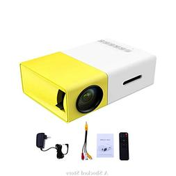 Mini Projector, AAO YG300 Portable Pico Full Color LED LCD V