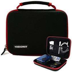 Mini Projector Case Travel Carrying Bag with Handles & Acces