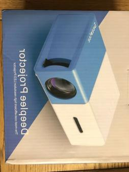 DeepLee Mini Projector, DP300 Portable LED Projector support