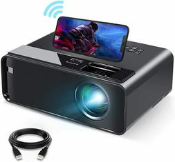Mini Projector for iPhone, ELEPHAS 2020 WiFi Movie Projector