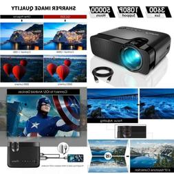 """ELEPHAS Mini Projector, Full HD 1080P and 180"""" Display, 3600"""