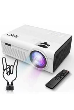 QKK Mini Projector -Full HD LED Projector 1080P Supported 24