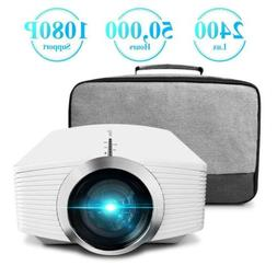 ELEPHAS Mini Projector, Home Theater LED Video 1080P with AV