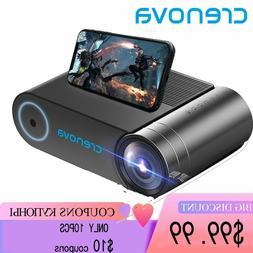 CRENOVA Mini projector LED Full HD 1280x720 for 1080p Wirele