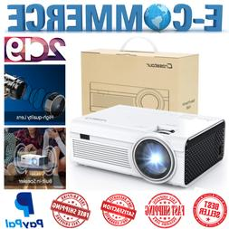 Mini Projector LED Ultra HD 1080P With 2500 Lumens For HDMI