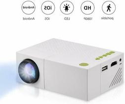 Fosa Mini Projector Portable 1080P LED Projector for iPhone