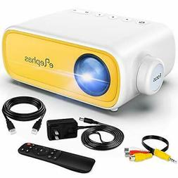 Mini Projector, ELEPHAS Portable Projector for iPhone, Video
