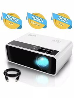 CiBest Mini Projector, Video Projector 3800 lux with 50,000