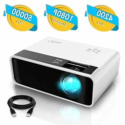 Mini Projector, CiBest Video Projector 4200 lux with 50,000