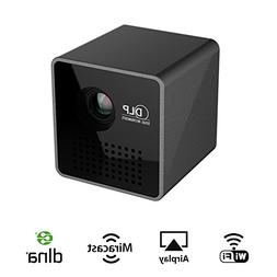 XFUNY Mini Projector WiFi LED DLP Video Projector Compatible