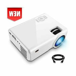 Mini Video Projector, XINDA 2800Lux Video Projector with 187