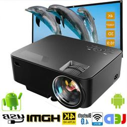 Mini Wifi Wireless Projector 1500 Lumens Built in DVD Player