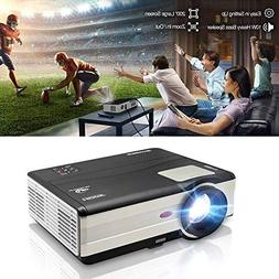 "HD Movie Projector 1080p Outdoor Indoor 3500 Lumens, 200"" Vi"