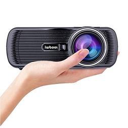 Roadwi Video Mini Portable Projector, 1500 lumens, Support 1