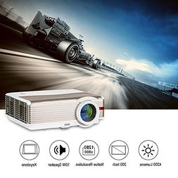 LED LCD Home Outdoor Projector 4200 Lumen WXGA HD 1080p Home