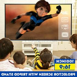New 100Inch Tripod Projection Screen 16:9 Square Projector S