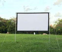 """100""""120""""Canvas 3D HD Projector Screen16:9 Portable Screen wi"""