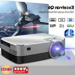 NEW 5000 Lumen 3D FHD 1080P Multimedia Video LED Projector H