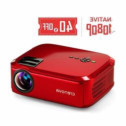 **NEW** Crenova Projector Native 1080p LED Video Projector,