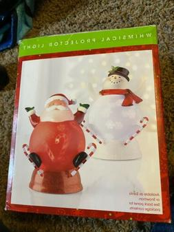 NIB North Pole Trading Co Whimsical Projector Santa Light Re