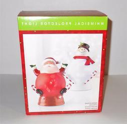 North Pole Trading Co Whimsical Projector Santa Light NIB
