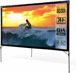 Outdoor Video Projector Screen with Stand 80 Inches