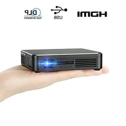Pocket Portable DLP 1080p Projector 100 Lumens High Contrast