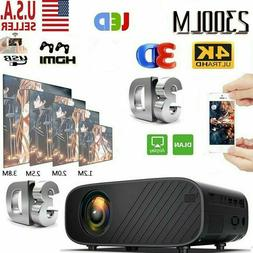Portable 1080P HD WiFi 3D LED Mini Video Projector Home Cine