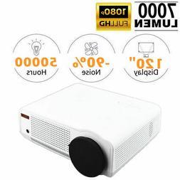 Portable 3D 7000 Lumens Full HD 1080P Projector HDMI VGA AV