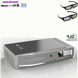 Portable 8500 Lumens Android 3D DLP Projector Wifi BT 4K HD